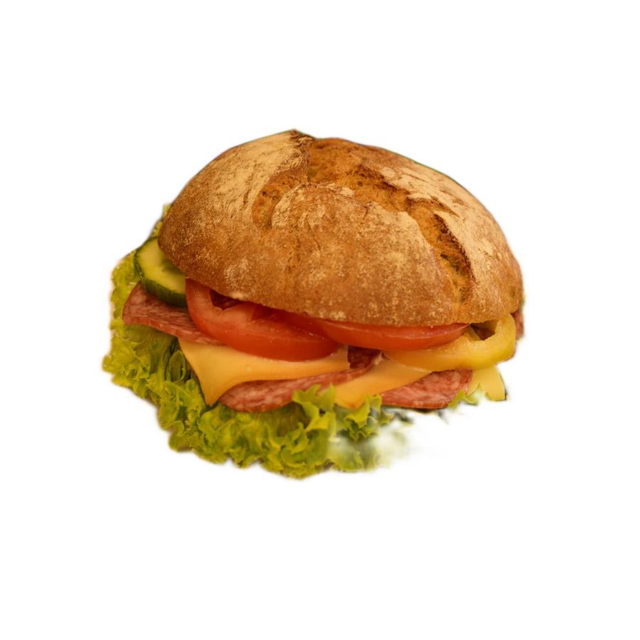 Csemege szalámis König Ludwig szendvics - AranyCipó pékség