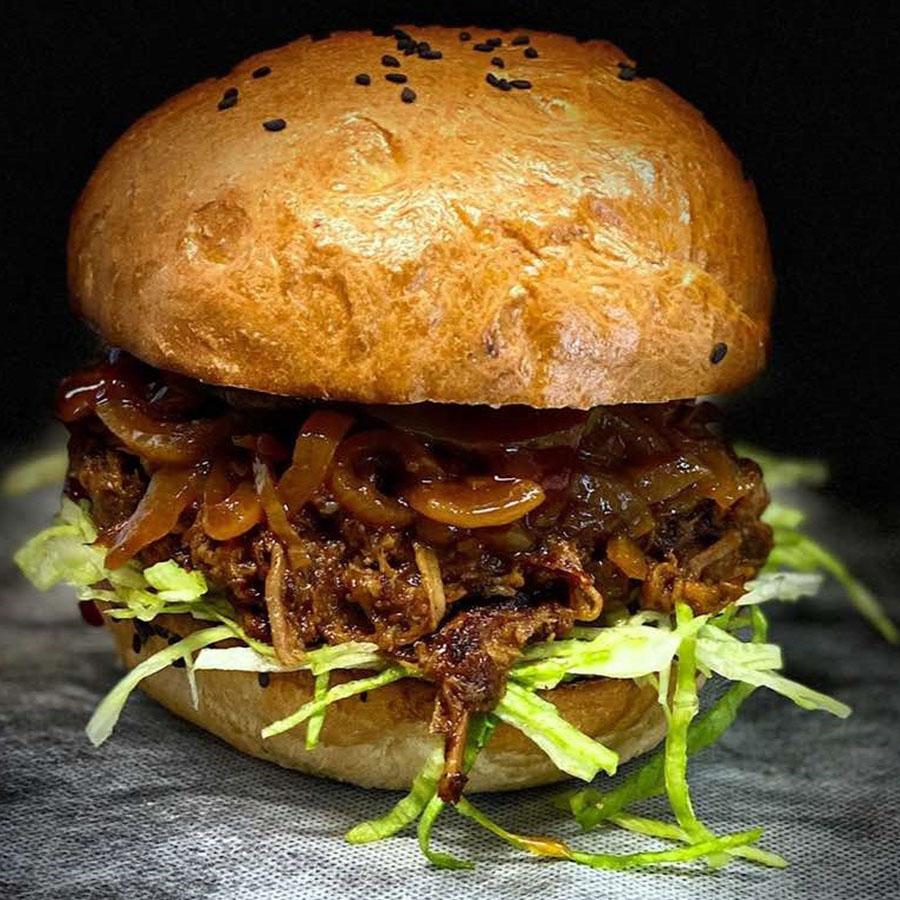 Pulled pork Burger - AranyCipó pékség