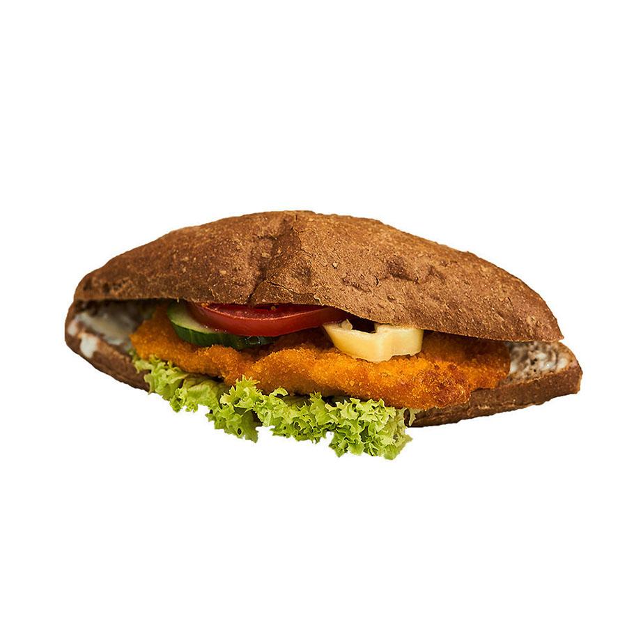 Rántott csirkemelles teljes kiőrlésű szendvics - AranyCipó pékség