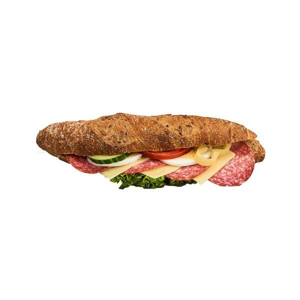 Szalámis kornspitz szendvics - AranyCipó pékség
